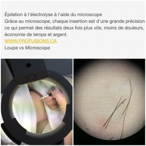 electrolyse au microscope microtrolyse